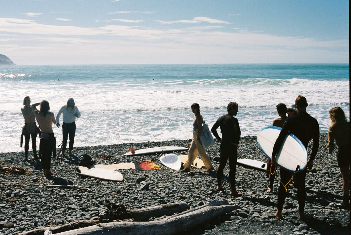 """Coronavirus canceled the The Single Fin Mingle,"" says BenBen. ""But those who had flown out already,  along with a crew of NZ locals, all gathered for an epic surf trip up the coast one day. Big thanks to Ambrose McNeill [organizer of the contest] for getting us all together and keeping the spirit of the mingle alive."""