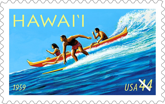 Surfing Stamps: Hawaii is always an inspiration