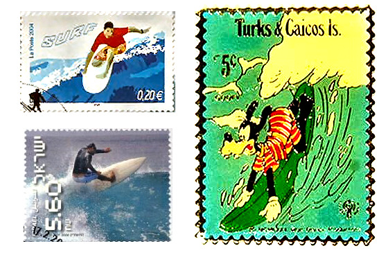 Surfing Stamps: Goofy is, in fact, a goofy-footer