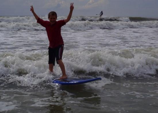 teenage surfer