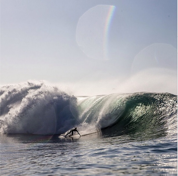 RVCA grom Tyler Gunter charging the Wedge
