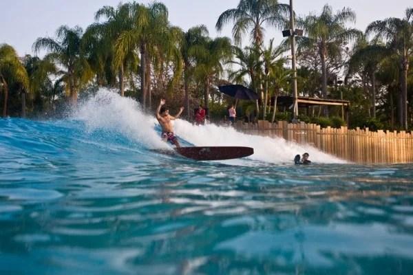 Longboard Cutback at Typhoon Lagoon Wave Pool