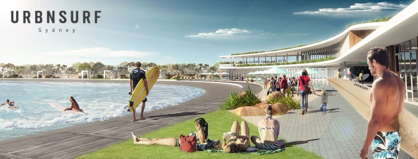 UrbnSurf Sydney Beach Rendering April 2016 | Surf Park Central
