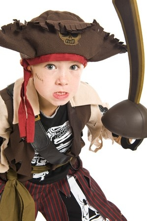child in a pirate costume