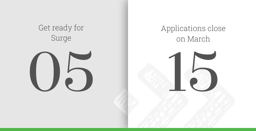 Applications for Surge 05 are open