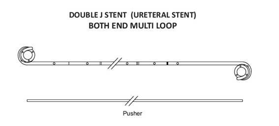 Ureteral double j stent multi loop india