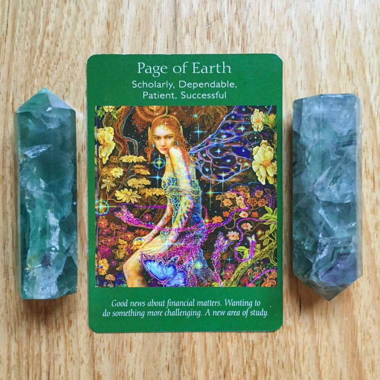 Card reading - page of earth
