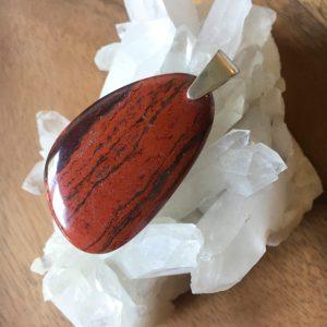 Large snakeskin jasper pendant