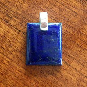 Lapis Lazuli square pendant