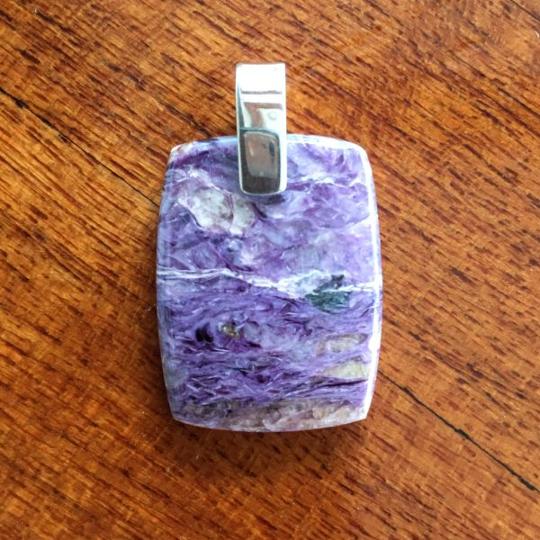rectangle charoite pendant