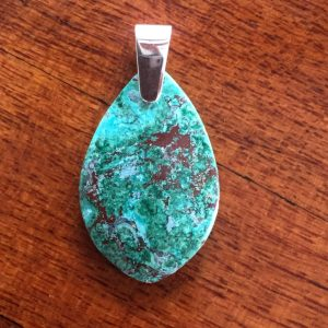 teardrop chrysocolla pendant