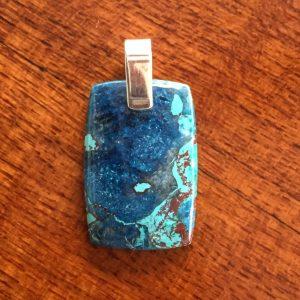 rectangle shattuckite pendant