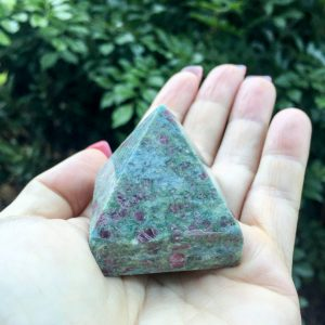 Ruby in Fuchsite Pyramid