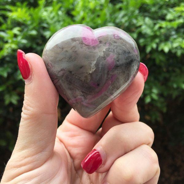 Ruby in feldspar heart