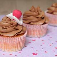 Cupcakes à la vanille & ganache montée au chocolat