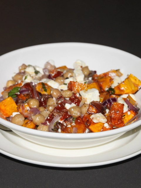 lukewarm pumpkin salad