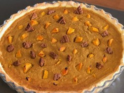 Biscoff pumpkin pie