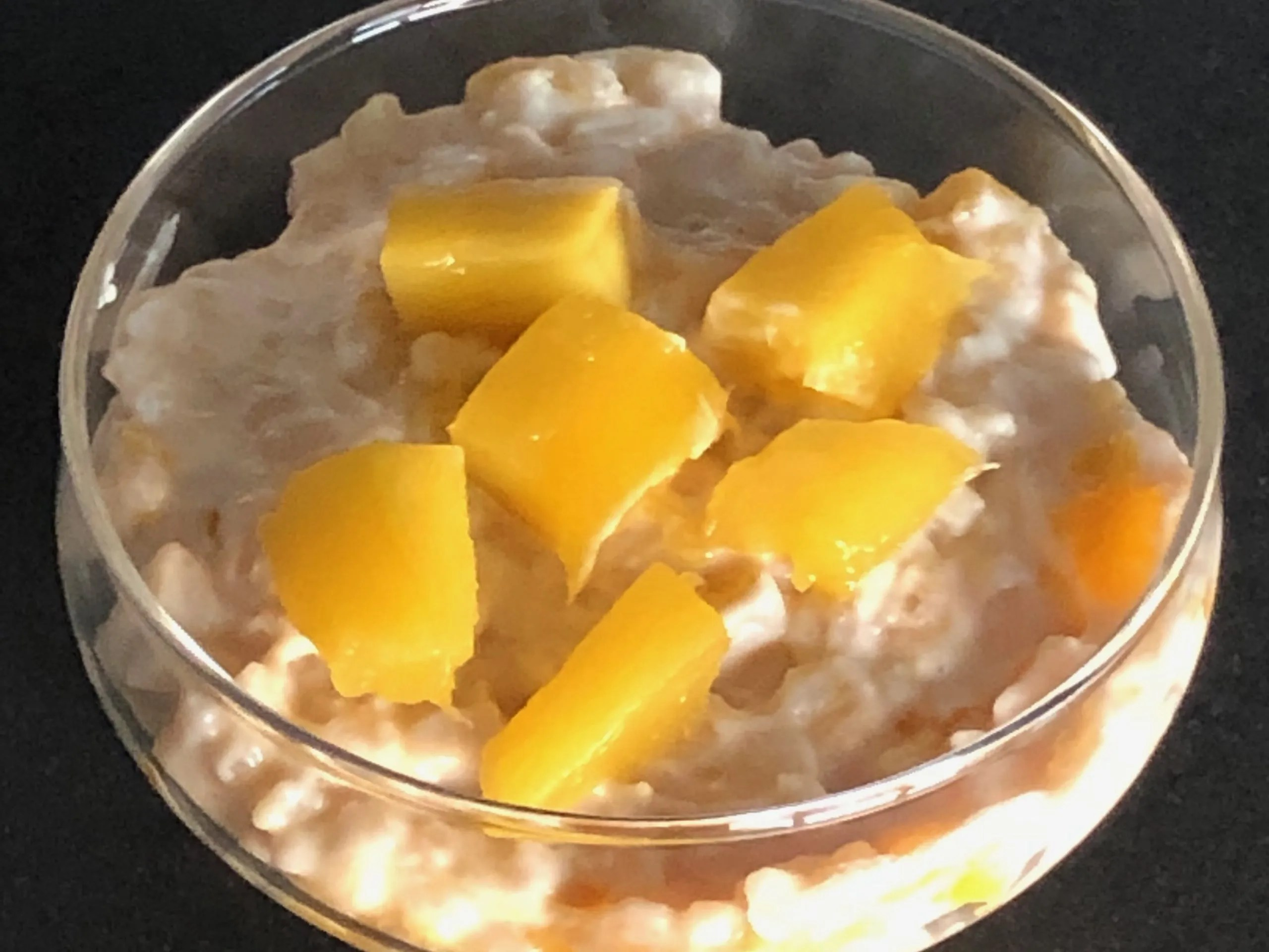 exotic coconut rice with mango