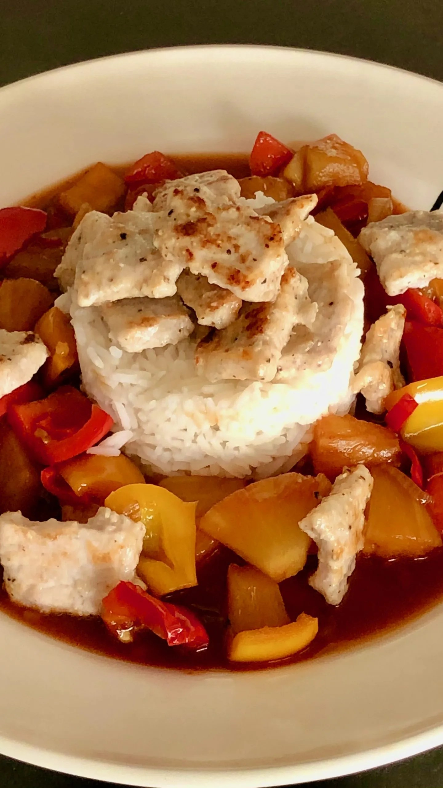 sweet and sour pork squares
