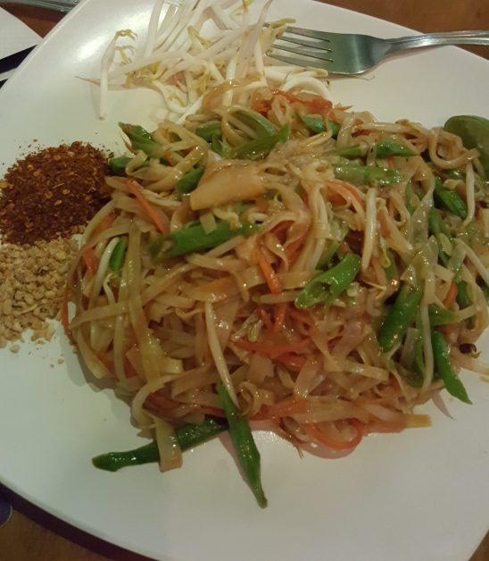 Paad Thai from the Thai menu