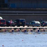 The women's eight time trialling