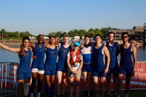 The men's beginner 8+, 5th at BUCS Regatta 2018