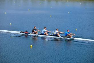 Senior Men // 4+ at the training camp in Dorney Lake.
