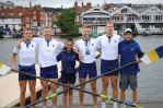 The Prince Albert Challenge Cup 4+ with Head Coach, Samuel Tuck