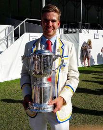 Harry Glenister with his 4th Henley trophy