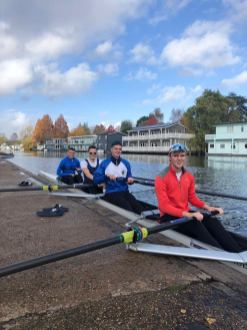 One of the senior men's 4- boating for KSBH