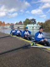 Lukas, Mantas, Ben & Roberto boating for KSBH