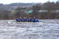 Senior Men's 8+ racing at BUCS Head