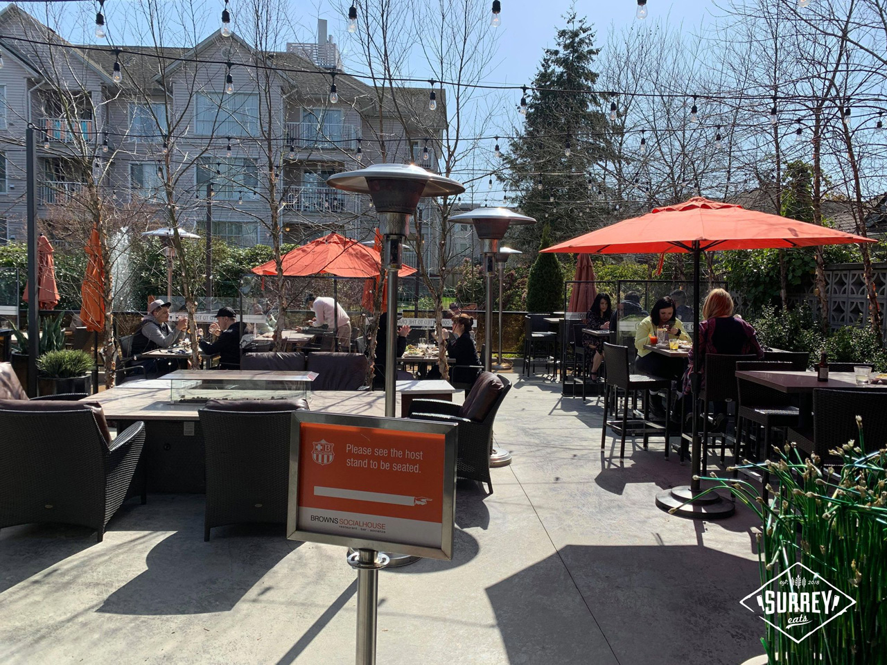 Browns Social House Guildford patio seating area