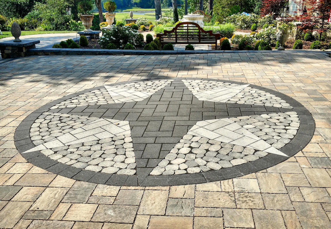 Should You Use Flagstone or Pavers in Your Backyard Patio ... on Paver Patio Designs id=55692