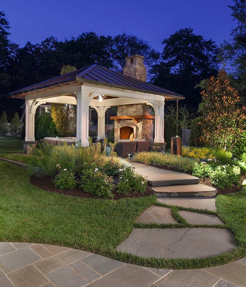Should I Install a Patio Fire Pit or Fireplace in My ... on Fireplace In Yard id=84452