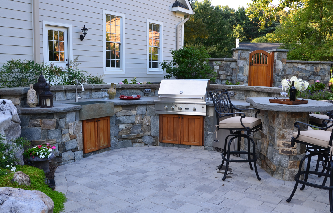 Outdoor Kitchen Design Essentials | Surrounds Landscape ... on Outdoor Patio Sink id=27557