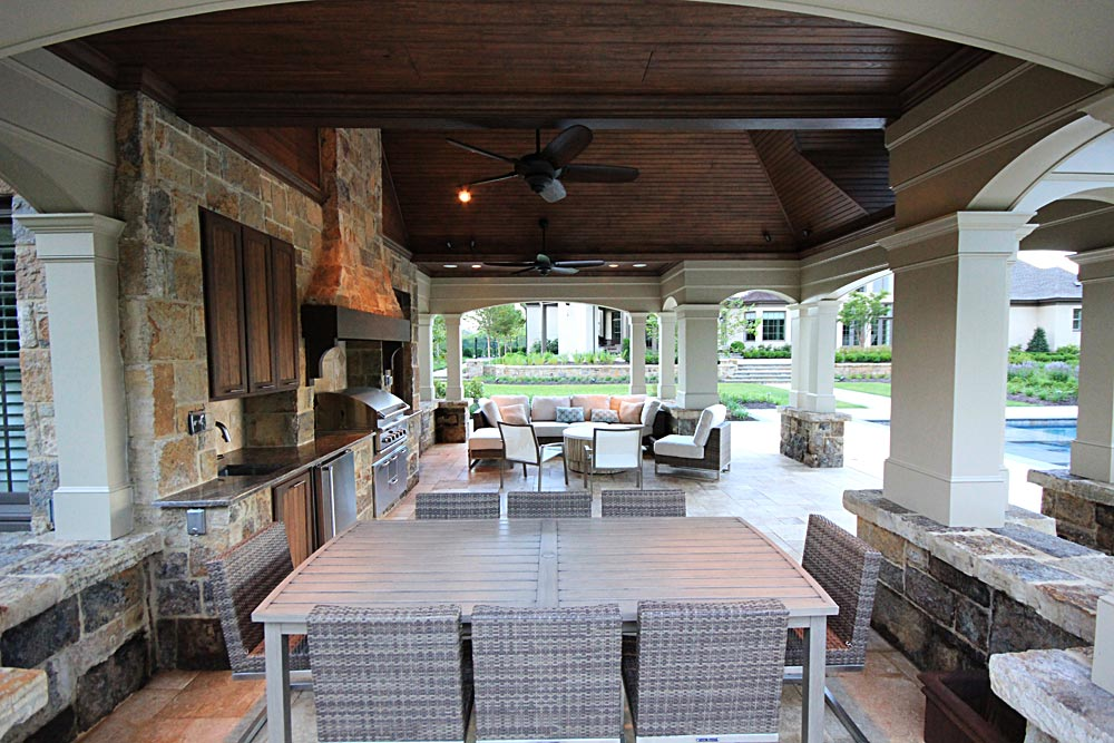 Photo Gallery of Outdoor Kitchens, Fireplaces & Fire pits ... on Outdoor Kitchen By Pool id=25302