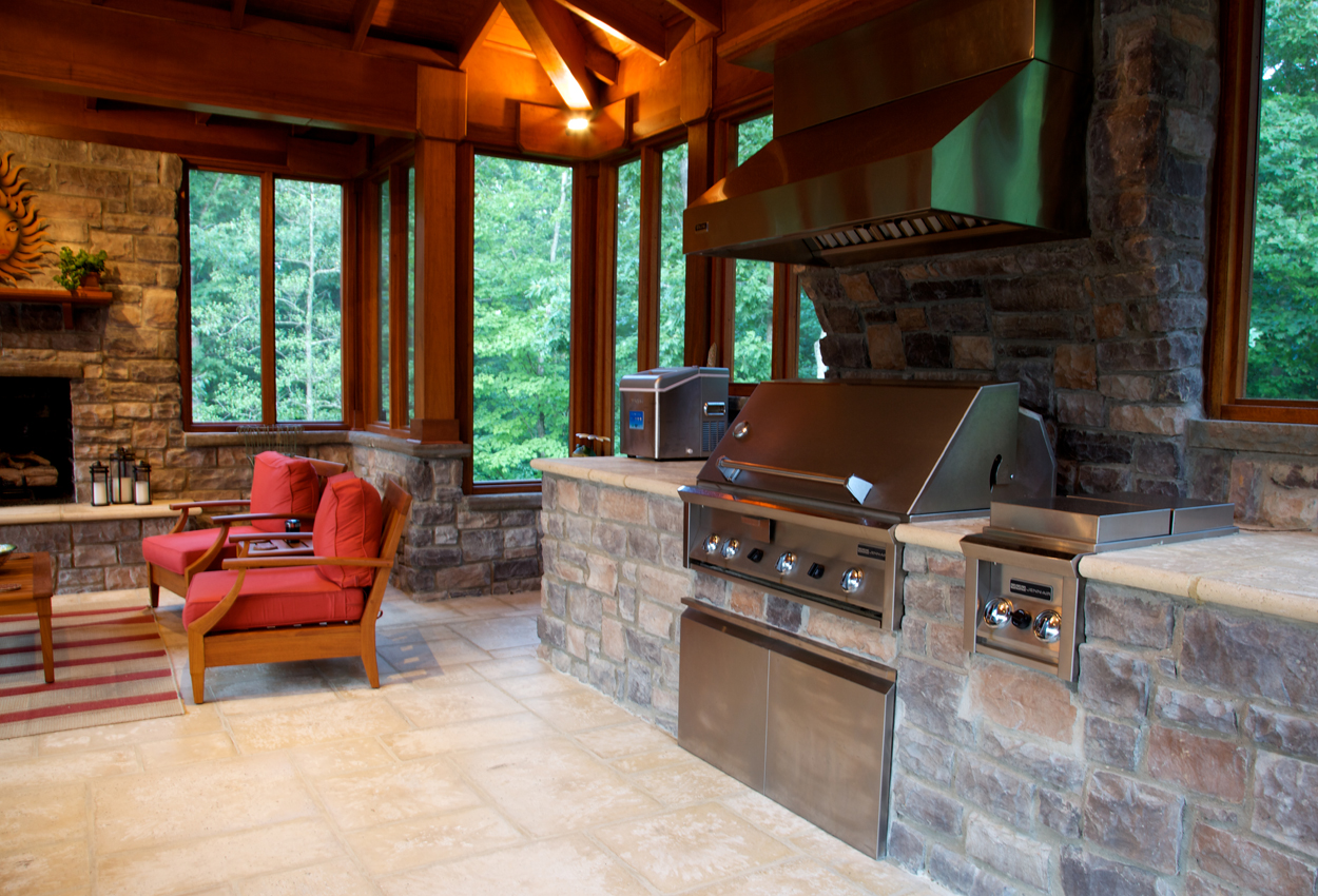 Outdoor Kitchen Design Essentials   Surrounds Landscape ... on Outdoor Kitchen And Fireplace Ideas id=16439