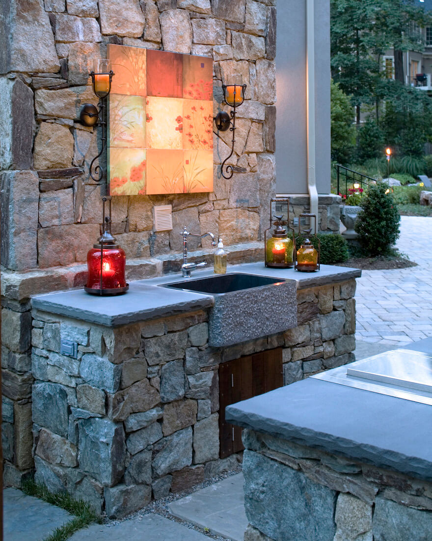 Everything You Need to Know to Plan Your Outside Kitchen ... on Outdoor Patio Sink id=74951