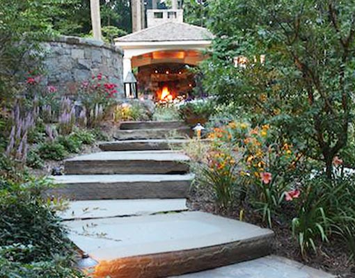 McLean Virginia Landscape Patio Design, Retaining Walls ... on Uphill Backyard Ideas  id=33138