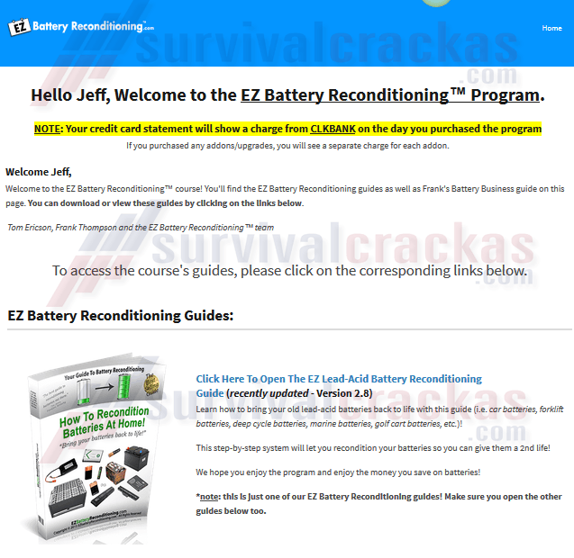 EZ Battery Reconditioning PDF