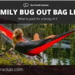 Things To Pack in a bug out bag for a family of 4