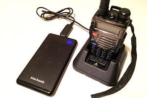 recharging Baofeng radio