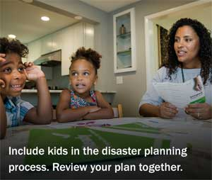 Include kids in disaster planning