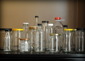 Glass Jars Trash