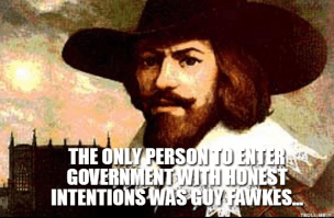 Guy Fawkes Voting Waste of time
