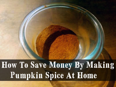 How To Save Money By Making Pumpkin Spice At Home