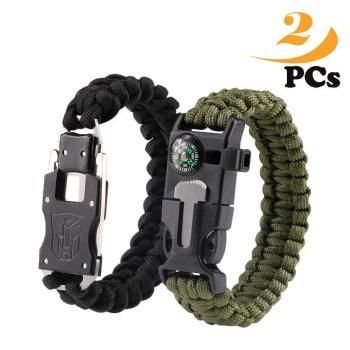 Survival armband paracord messer feuerstahl kompassp