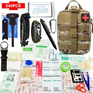 Survival Erste Hilfe Set IFAK Molle System Kompatibel Outdoor-Ausrüstung Notfall-Sets für Rettungskräfte Camping Boot