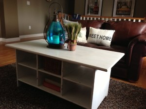 Ikea coffee table after Annie Sloan Chalk Paint